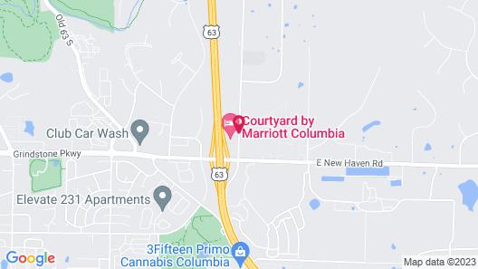 Courtyard by Marriott Columbia Missouri Map