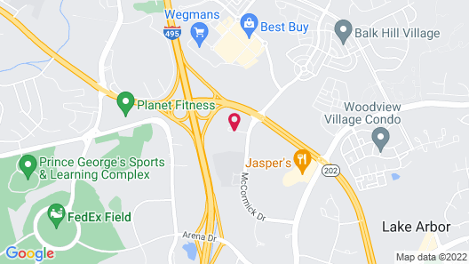 Holiday Inn Express I-95 Capitol Beltway-Largo, an IHG Hotel Map