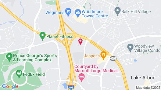 DoubleTree by Hilton Hotel Largo-Washington DC Map