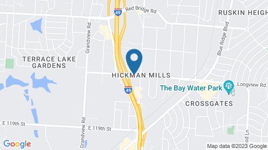 Best Host Inn Plaza Kansas City South Map