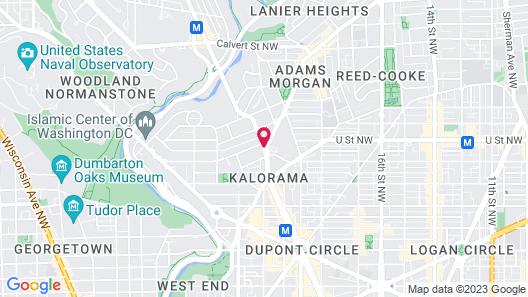 Churchill Hotel Near Embassy Row Map