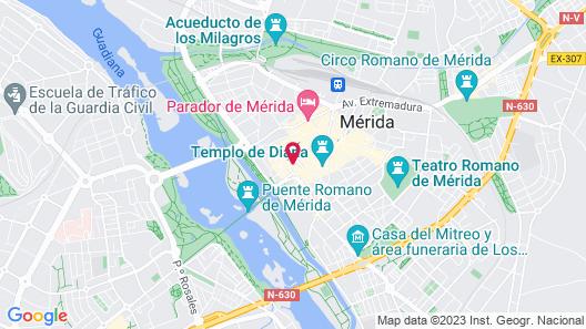 Hotel ILUNION Mérida Palace Map