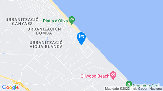 Spacious apartment 200 meters from the beach Map