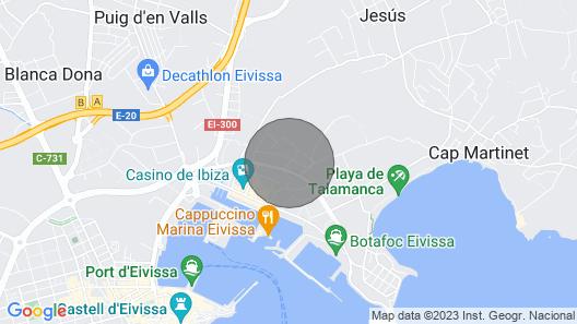 BON Viure South Beach - Marina DE Botafoch - Ibiza Map