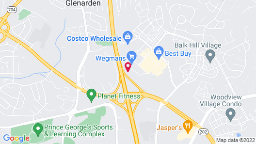 Hampton Inn & Suites Glenarden, MD/Washington DC Map