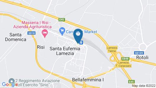 Hotel Sogni D'Oro Airport Map