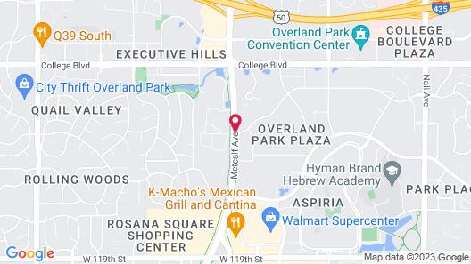 Courtyard by Marriott Kansas City Overland Park/Metcalf Map
