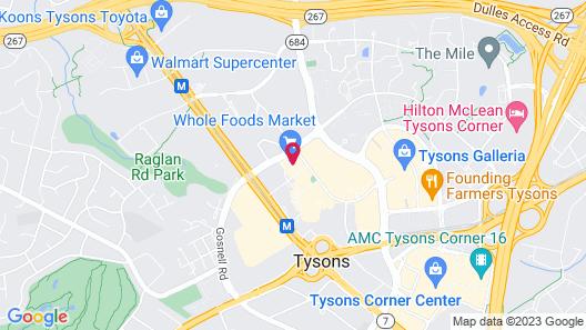 WhyHotel Tysons Corner Greensboro Drive Map