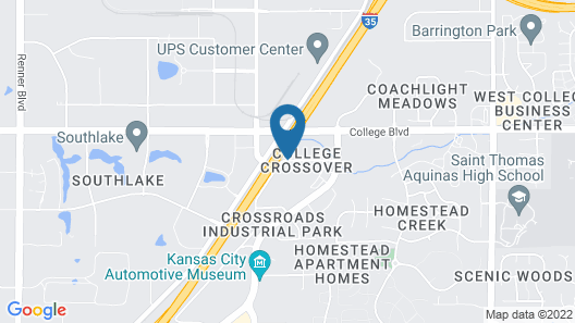 WoodSpring Suites Kansas City Lenexa Map