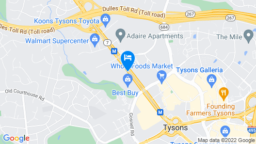 Embassy Suites by Hilton Tysons Corner Map