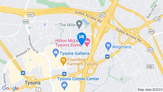 Hilton McLean Tysons Corner Map