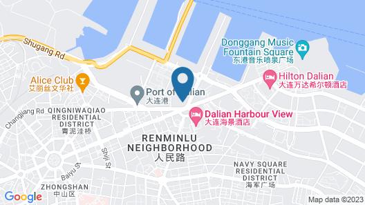 Hilton Dalian Map