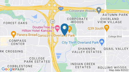 DoubleTree by Hilton Kansas City - Overland Park Map