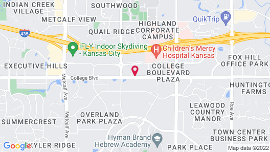 Sheraton Overland Park Hotel at the Convention Center Map