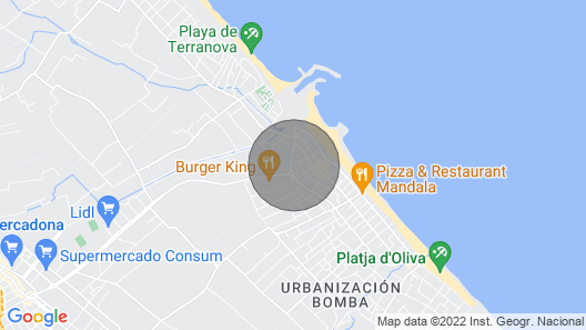 Cotton - Apartment With Terrace in Playa de Oliva Map