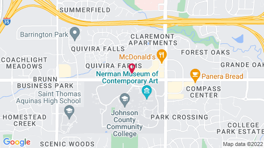 Candlewood Suites Kansas City-Overland Park Map