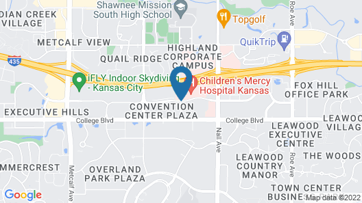 Courtyard by Marriott Kansas City Overland Park/Convention Center Map