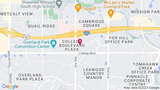 Extended Stay America Suites Kansas City Overland Pk Nall Av Map