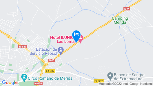 Hotel ILUNION Las Lomas Map