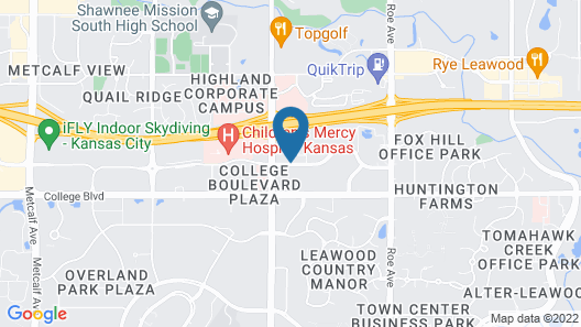 Extended Stay America - Kansas City - Overland Park-Nall Ave Map