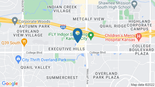 Marriott Kansas City Overland Park Map