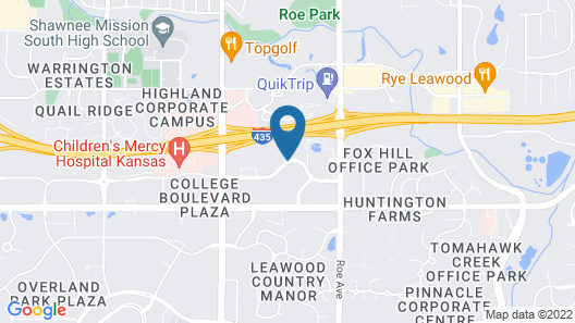 Hyatt Place Kansas City/Overland Park/Convention Center Map