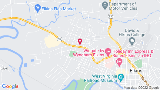 Elkins Inn And Suites Map