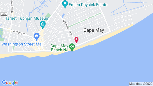 The Capri in Cape May Map