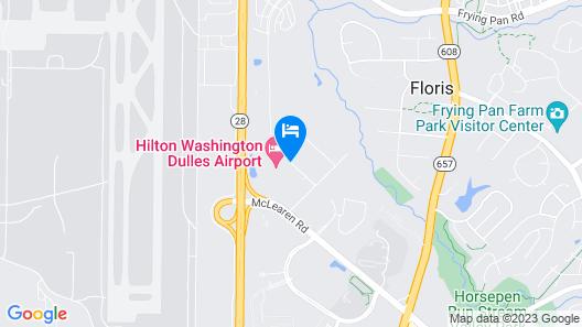 Hilton Washington Dulles Airport Map