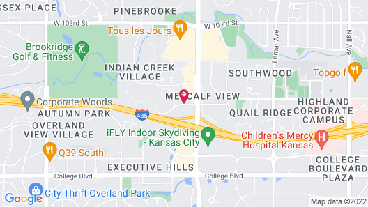 Best Western Overland Park Hotel Map