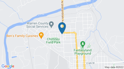 Blue Ridge Motel Map