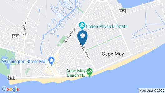 Madison Avenue Beach Club Motel Map