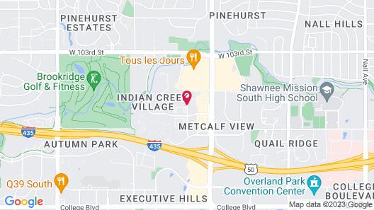 Homewood Suites Kansas City/Overland Park Map