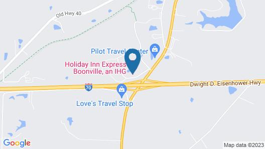 Holiday Inn Express Boonville, an IHG Hotel Map