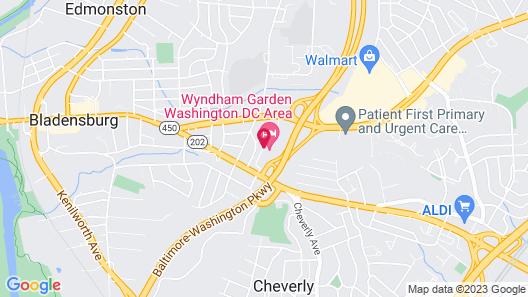 Wyndham Garden Washington DC Area Map