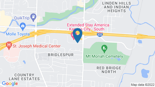 Extended Stay America Kansas City - South Map