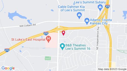 Hampton Inn Kansas City-Lee's Summit Map