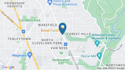 Days Inn by Wyndham Washington DC/Connecticut Avenue Map