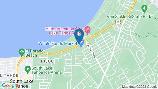Tahoe Beach and Ski Map