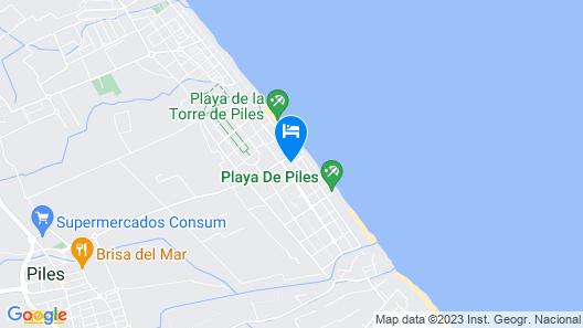 Apartamentos Piles Gandía 3000 Map