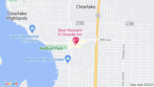 Best Western El Grande Inn Map