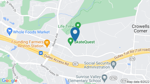 Homewood Suites by Hilton Reston Map