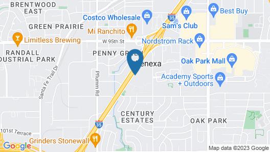 Motel 6 Lenexa, KS - Kansas City Southwest Map