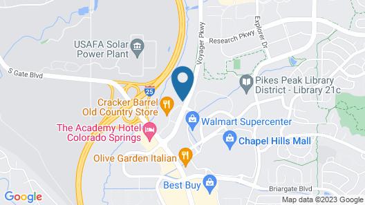 Studio 6 Colorado Springs, CO Map