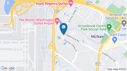 Candlewood Suites Herndon, an IHG Hotel Map