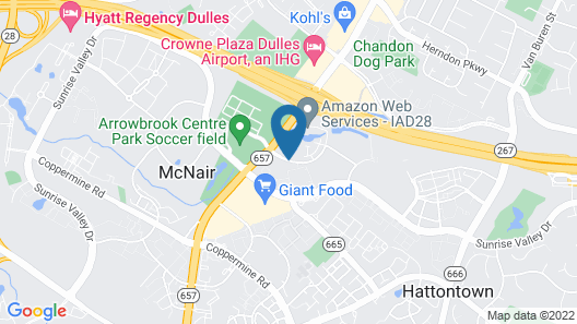 Embassy Suites Dulles Airport Map