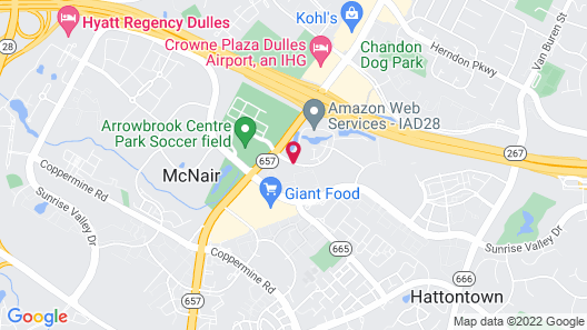 Embassy Suites by Hilton Dulles Airport Map