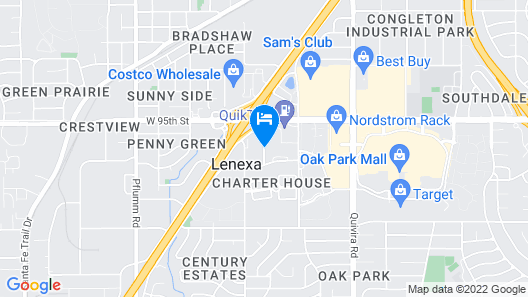 Super 8 by Wyndham Lenexa Overland Park/Mall Area Map