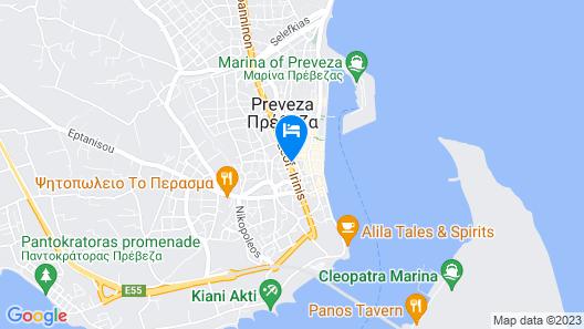 Preveza City Comfort Hotel Map