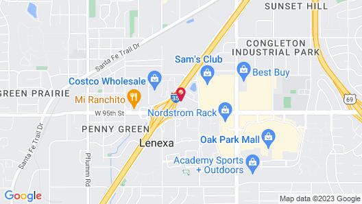 La Quinta Inn by Wyndham Kansas City Lenexa Map